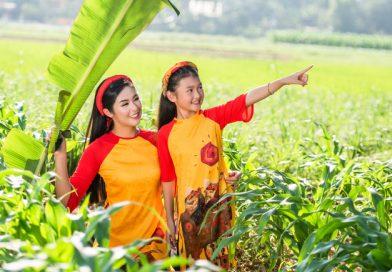 Hoa hậu Ngọc Hân khoe dáng vẻ thục nữ giữa đồng quê xứ Huế