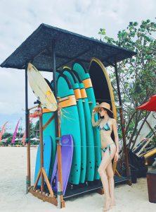 Mới đây trên trang cá nhân, Hoa hậu Việt Nam 2014 chia sẻ một vài hình ảnh mới trong chuyến du lịch Bali.