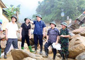 Ngay sau khi sự việc xảy ra, Phó Thủ tướng Chính Phủ Trịnh Đình Dũng đã có mặt cùng lãnh đạo tỉnh Yên Bái chỉ đạo khắc phục hậu quả