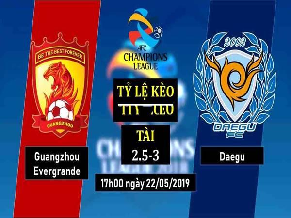 Dự đoán Guangzhou Evergrande vs Daegu, 17h00 ngày 22/5