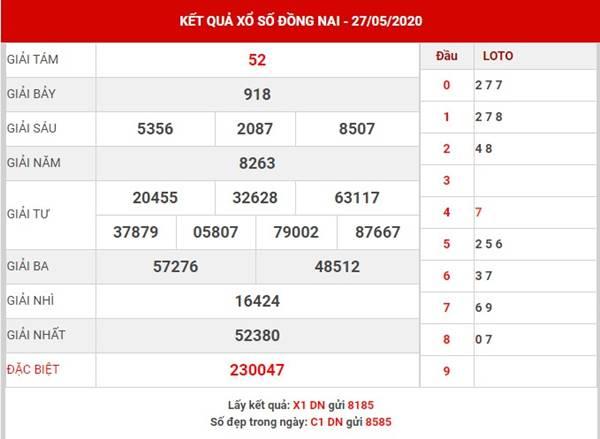 Dự đoán kết quả SX Đồng Nai thứ 4 ngày 3-6-2020