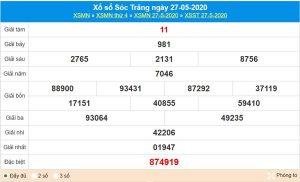 Dự đoán XSST 3/6/2020 chốt KQXS Sóc Trăng thứ 4