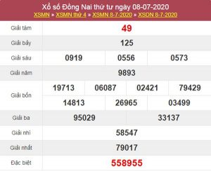 Soi cầu KQXS Đồng Nai 15/7/2020 thứ 4 cực chuẩn xác