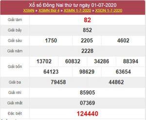 Thống kê XSDNA 8/7/2020 chốt KQXS Đồng Nai thứ 4