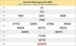 Thống kê XSDNG 29/7/2020 chốt KQXS Đà Nẵng thứ 4