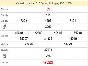 Quay thử xổ số Quảng Bình ngày 27 tháng 8 năm 2020