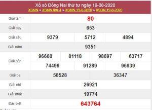 Thống kê XSDNA 26/8/2020 chốt KQXS Đồng Nai thứ 4