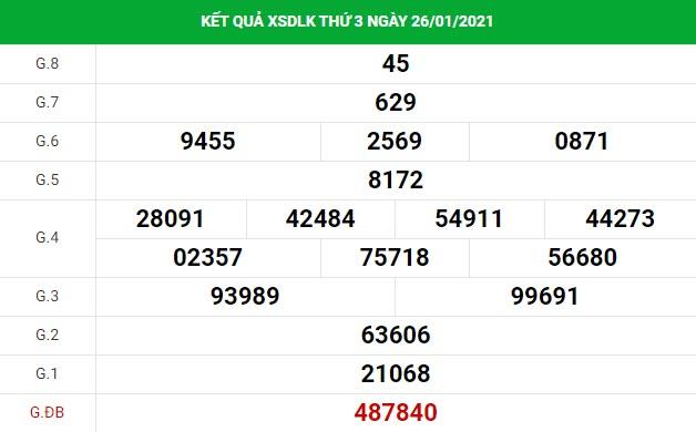 Thống kê soi cầu kết quả XS Daklak ngày 02/02/2021