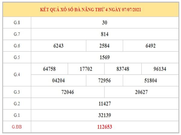Thống kê KQXSDNG ngày 10/7/2021 dựa trên kết quả kì trước