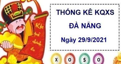 Thống kê xổ số Đà Nẵng ngày 29/9/2021